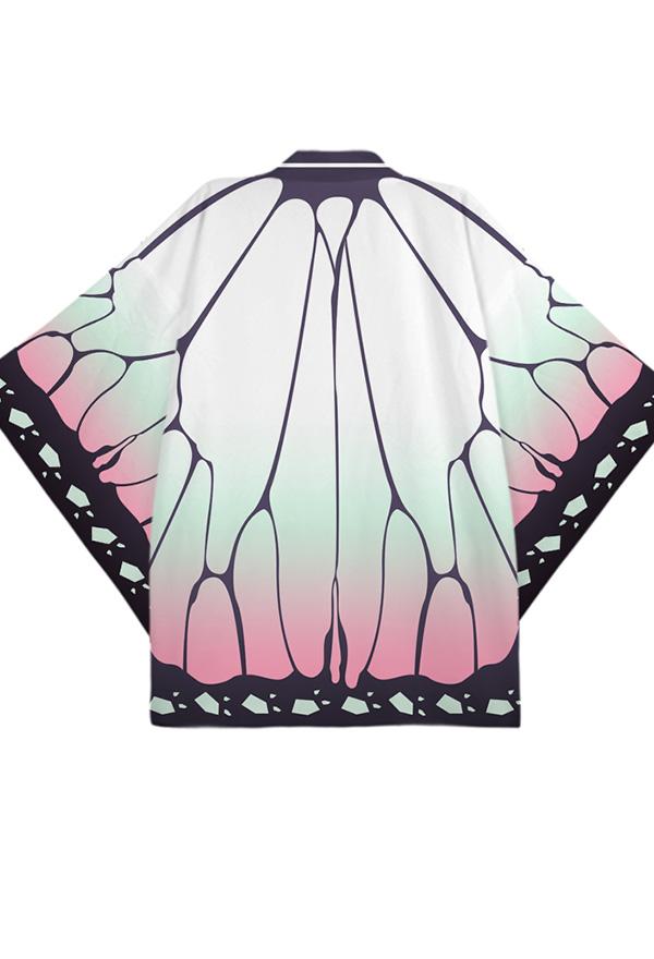 Kimetsu no Yaiba Kochou Shinobu Cosplay Kimono Outfit Accessories Details about  /Demon Slayer