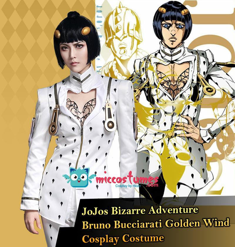JoJo/'s Bizarre Adventure  Bruno Bucciarati Cosplay Costume Coat+Pants Full Set
