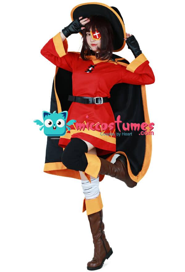 KonoSuba God/'s Blessing On This Wonderful World Megumin Cosplay Costume Full Set