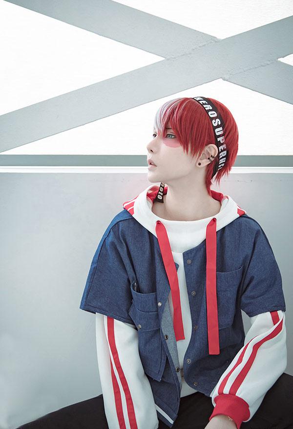 My Hero Academia Todoroki Shoto Heroes Weekly Magazine Cosplay Daily Hoodie Jacket Cosplay Costume