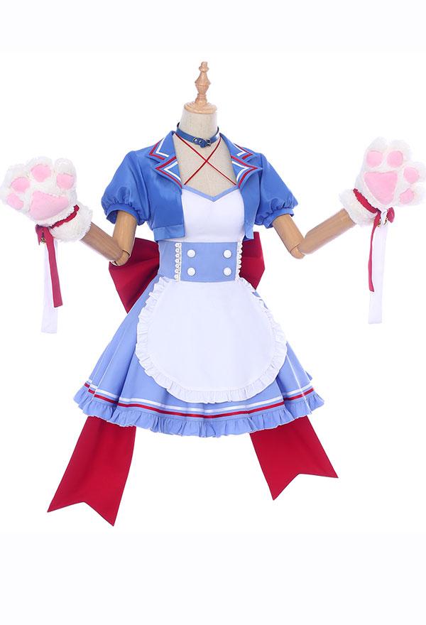 My Hero Academia Cosplay Gender Conversion Maid Cafe Todoroki Shoto Cosplay Maid Costume