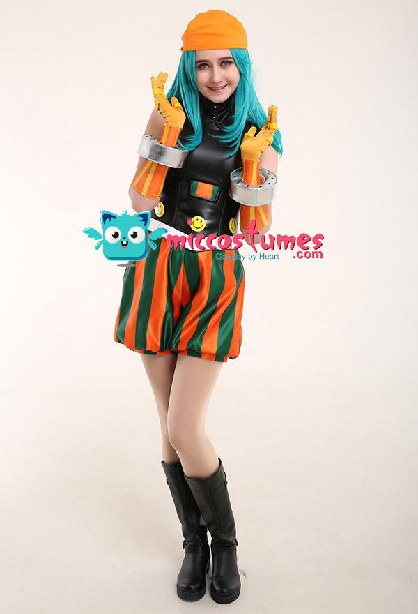 Joke Cosplay Details about  /My Hero Academia Boku No Hero Academia Emi Fukukado Smile Hero Ms