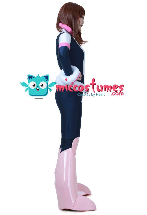 C-ZOFEK My Hero Academia Ochaco Uraraka Bodysuit Womens Cosplay Costume Jumpsuit