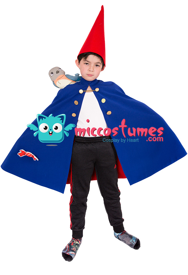 Over the Garden Wall Wirt Mantle Cape Robe Cosplay Costume