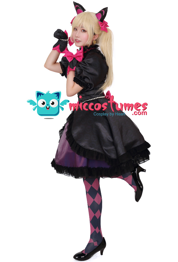 Overwatch D Va Black Cat Cosplay Costume Dress With Cat Ears