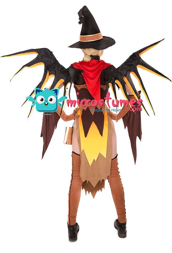 Overwatch Sorciere Costume De Cosplay Mercy Halloween Avec Ailes