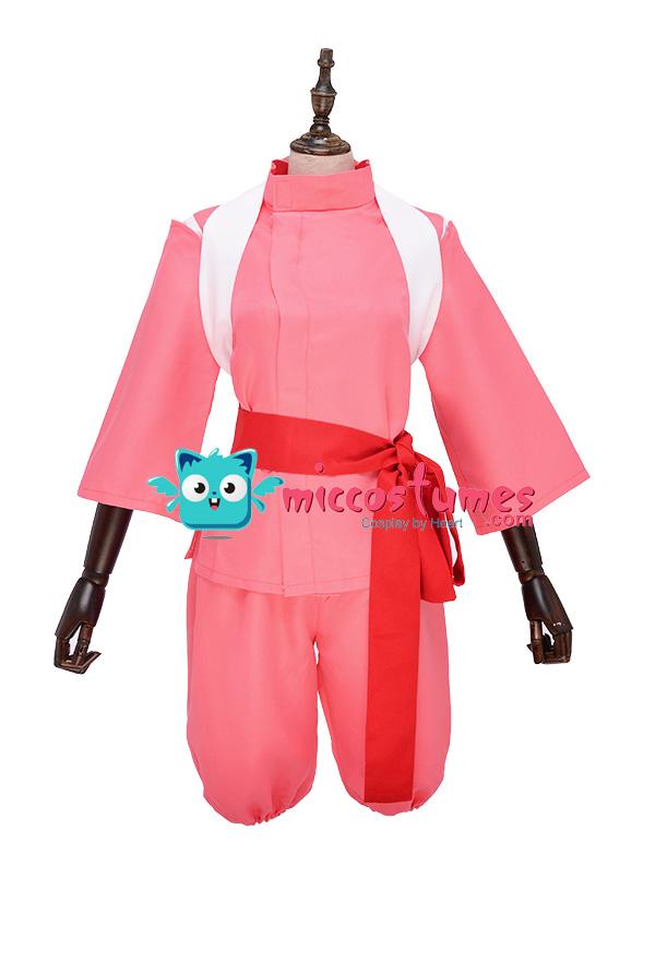 Spirited Away Chihiro Ogino Cosplay Costume Cosplay Kimono Suit
