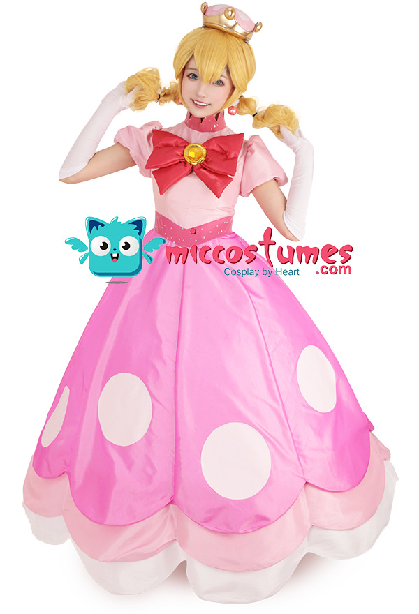 Coskidz Childrens Princess Peach Cosplay Costume with Crown