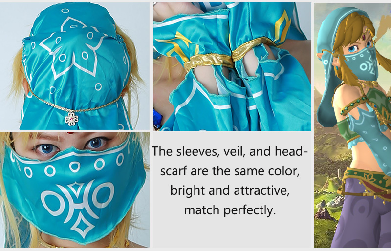 Female The Legend Of Zelda Breath Of The Wild Link Women Gerudo Outfit Cosplay Costume