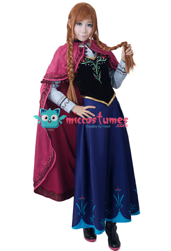 Description. Movie Costumes  sc 1 st  Miccostumes.com & Frozen Princess Anna Cosplay Costume For Sale