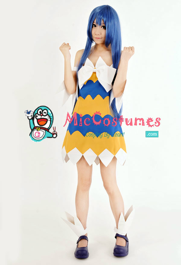 Fairy Tail Wendy Marvell Long Straight Cosplay Wig