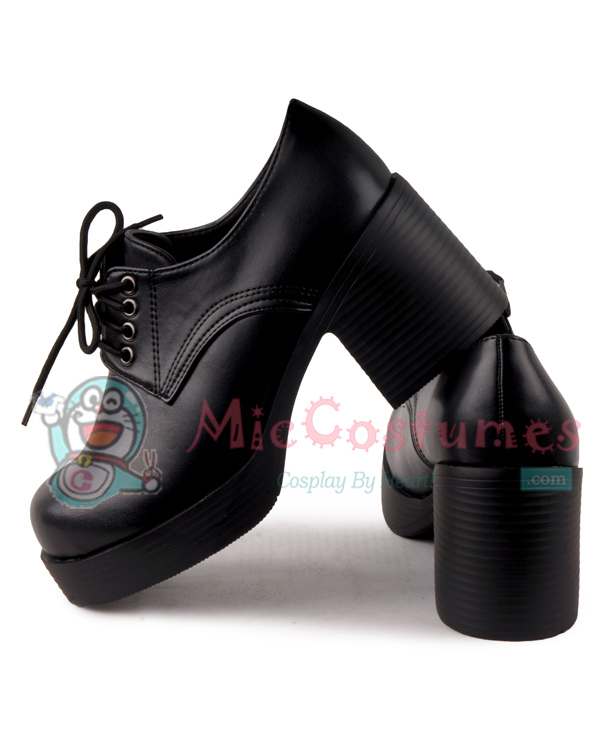 Middle Stacked Heels Round Toe Front